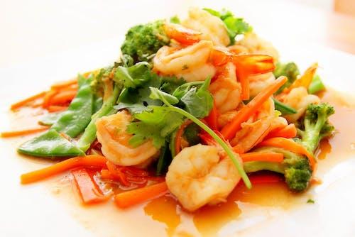 건강한, 다이어트, 레스토랑, 새우의 무료 스톡 사진
