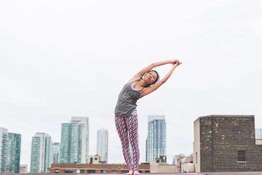 Woman Doing Yoga Posture
