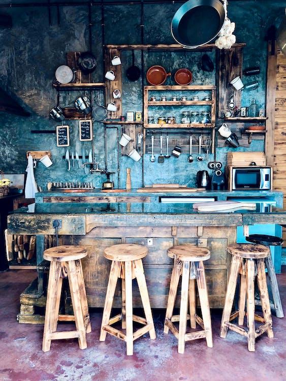 Shabby stylish design of coffee shop