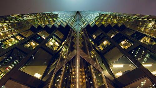 bakış açısı, bina, bina cephesi, cam paneller içeren Ücretsiz stok fotoğraf