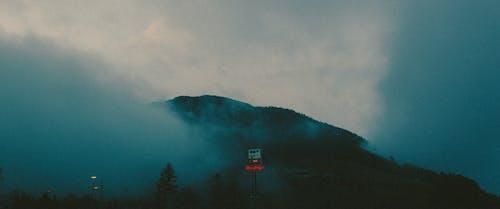 Foto d'estoc gratuïta de a l'aire lliure, amb boira, blau, boira
