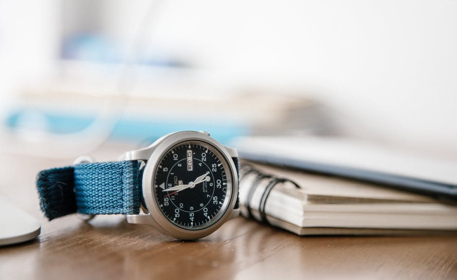 New free stock photo of notebook, wristwatch, time