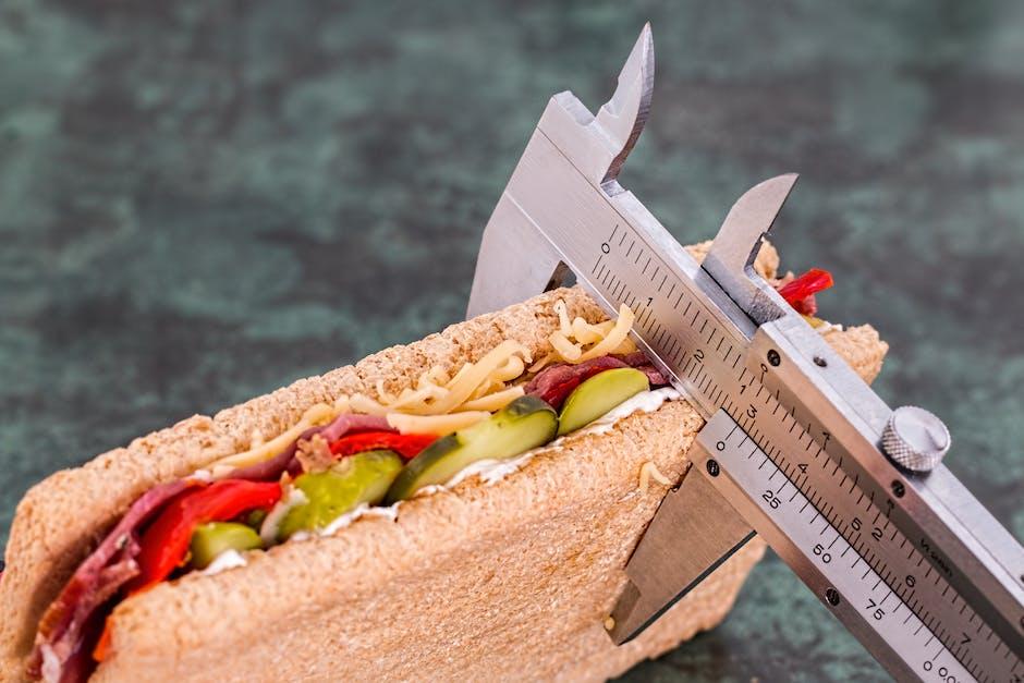Grey Measuring Device on Brown Sandwich