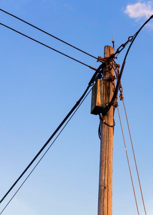 Δωρεάν στοκ φωτογραφιών με vintage, γραμμές ηλεκτρικού ρεύματος, γραμμή ρεύματος, δύση του ηλίου