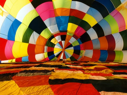 Multi Color Hot Air Balloon