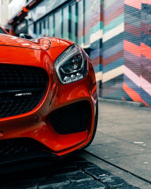 Orange Audi R 8 on Road