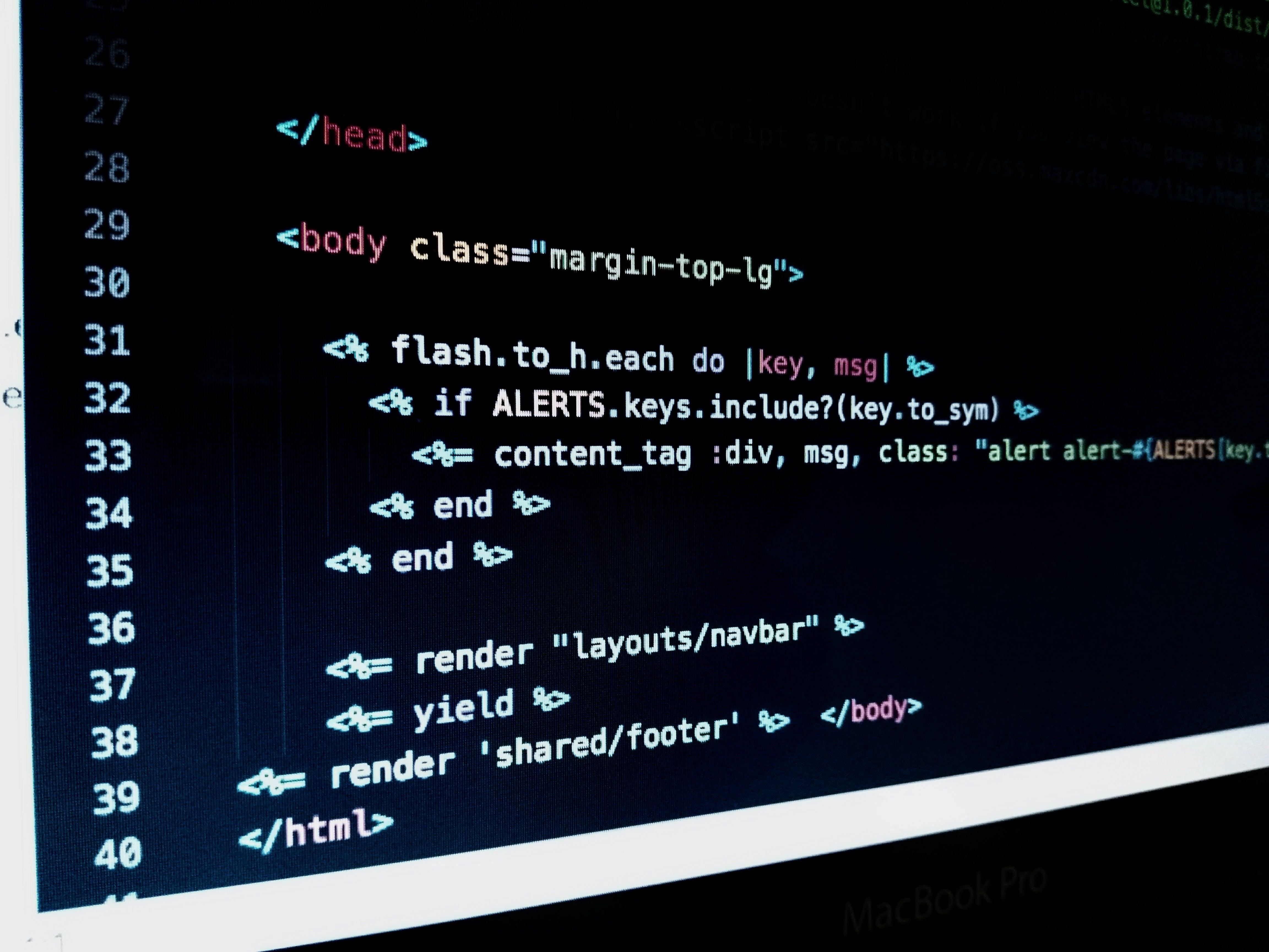Free stock photo of black, code, computing, developer