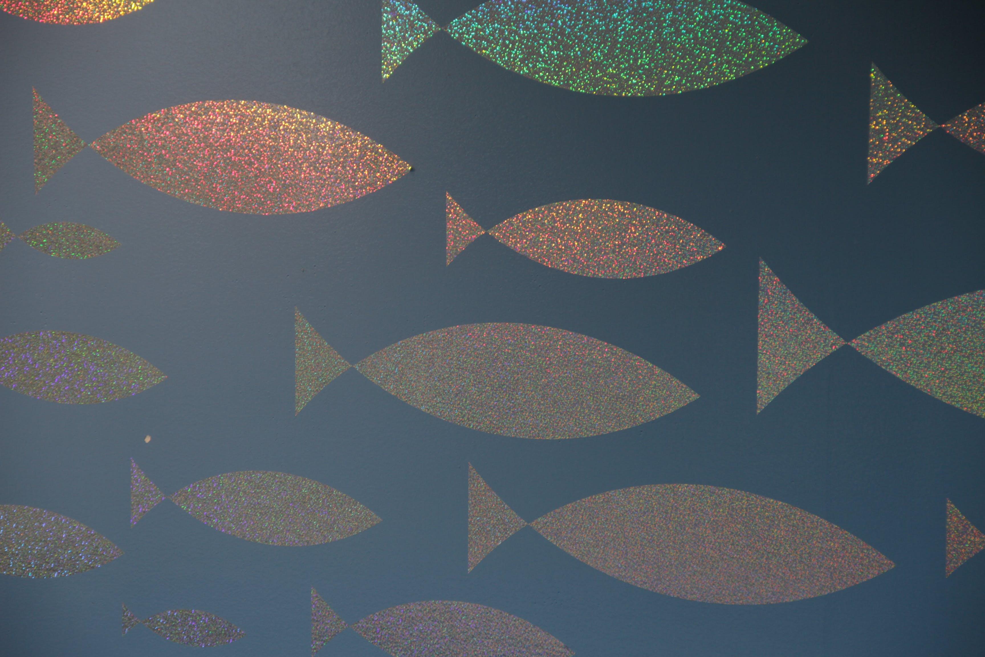 background, fish, glitter