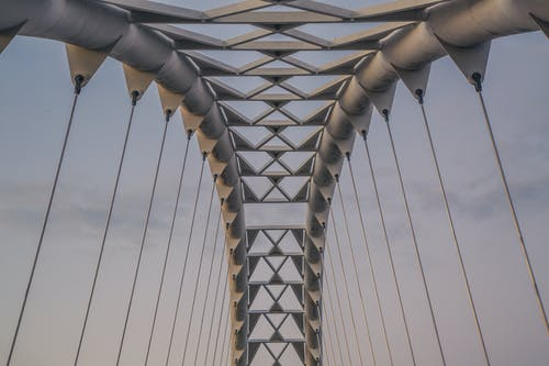 Foto d'estoc gratuïta de acer, arquitectura, filferro, futurista