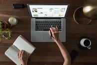 hand, desk, laptop