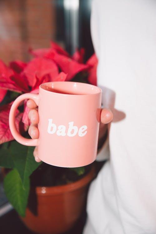 Pink Ceramic Mug With Babe Print