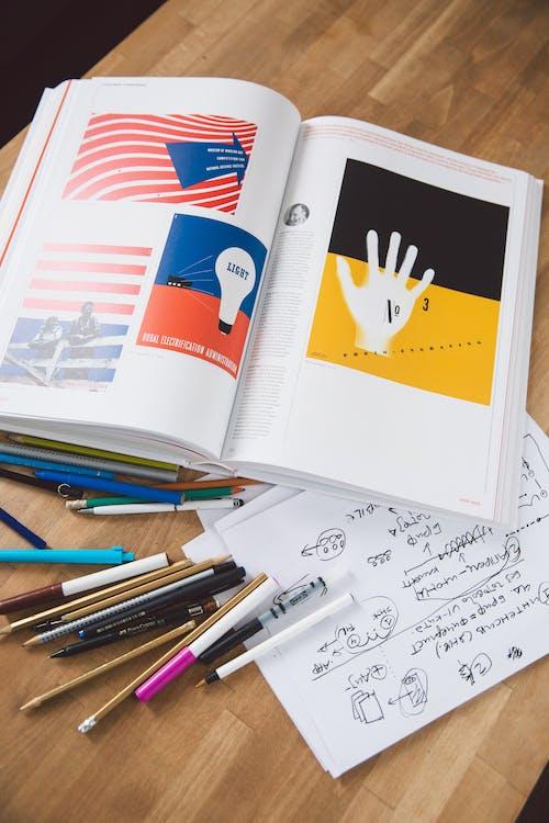 คลังภาพถ่ายฟรี ของ กระดาษ, กราฟิกดีไซน์, การศึกษา