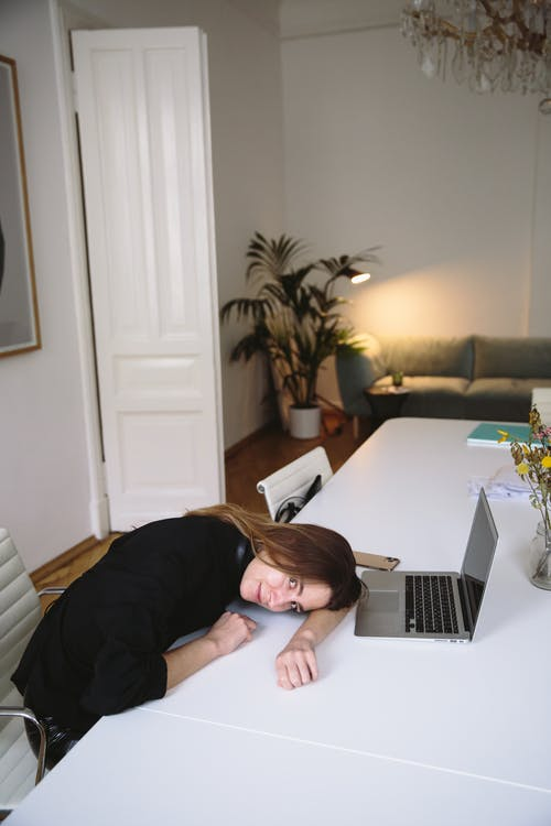 Woman Resting in Office