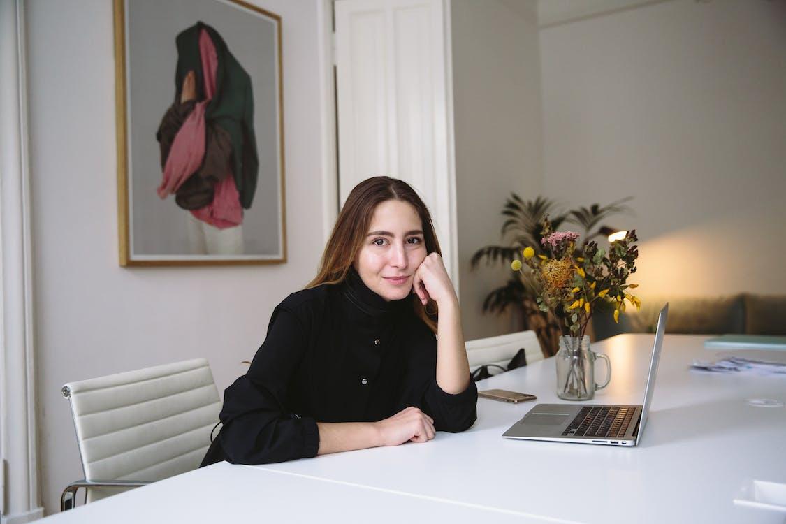 Portrait of Woman in Office