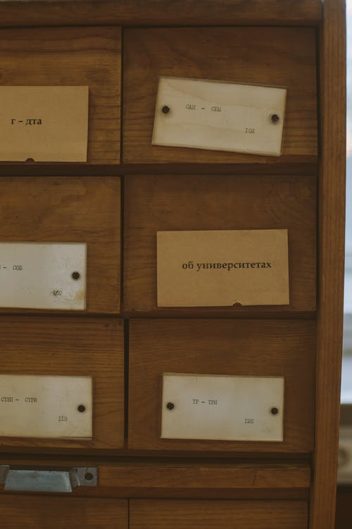 Labels on Drawers