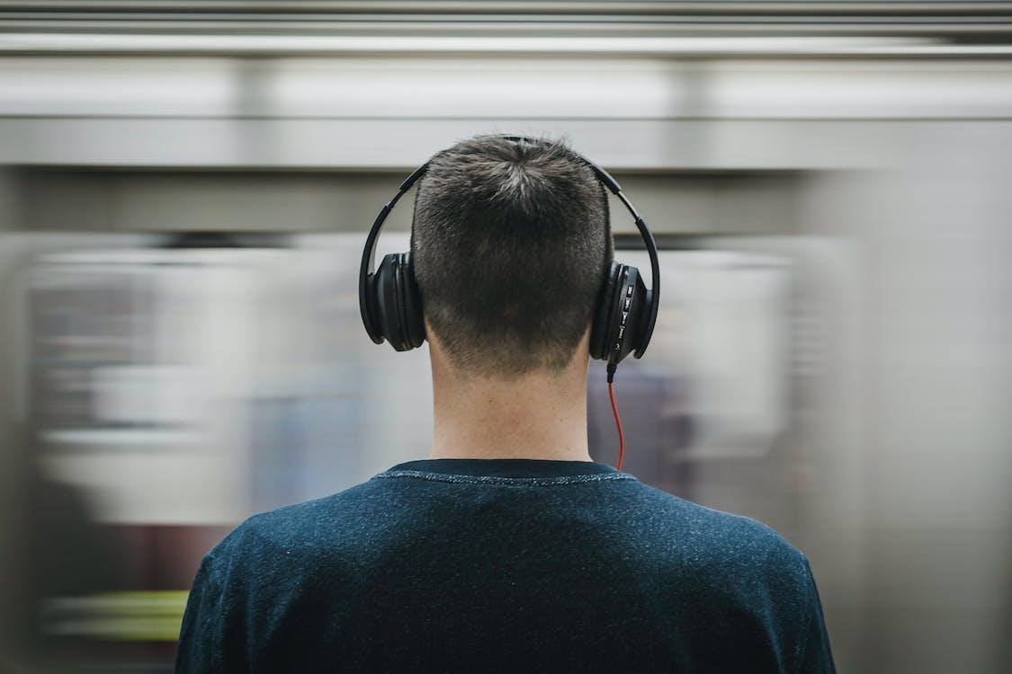 človek, cvičiť, hudba