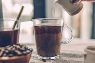 food, wood, caffeine