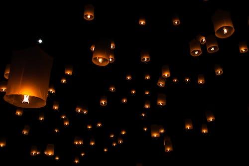 Gratis lagerfoto af belyst, brand lanterne, fejring, Festival