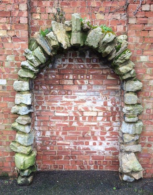 Free stock photo of arch, brick, brick wall