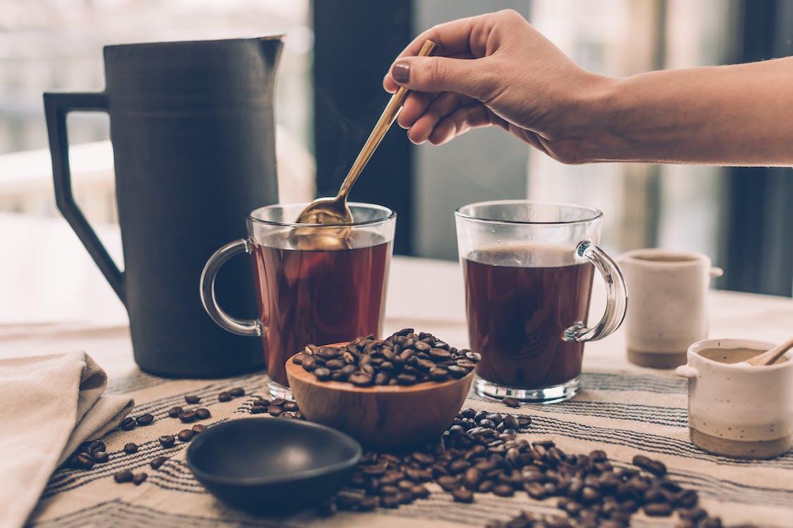 aroma, bønne, cappuccino