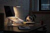 light, apple, desk