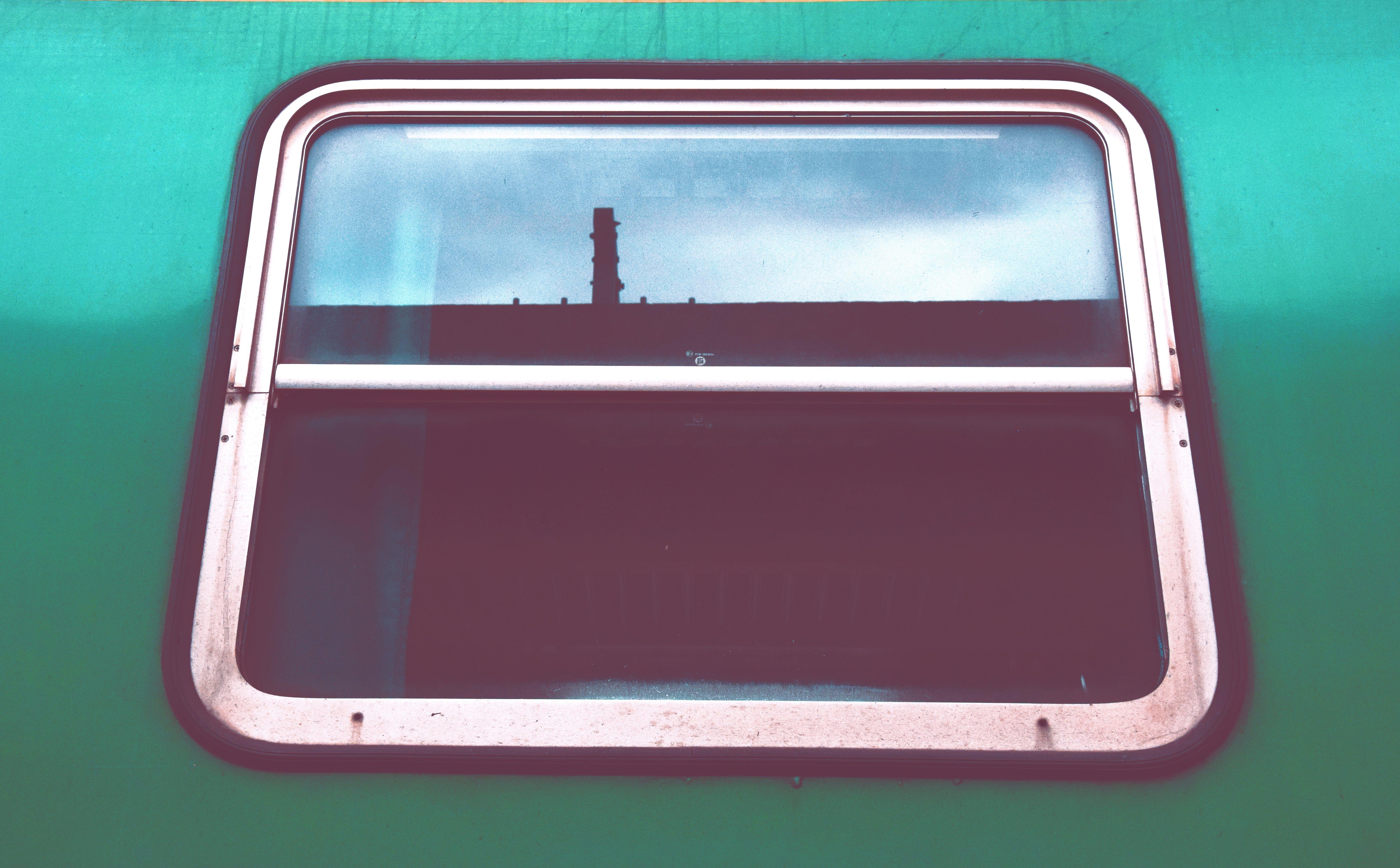 Free stock photo of train, window, reflection, mirror