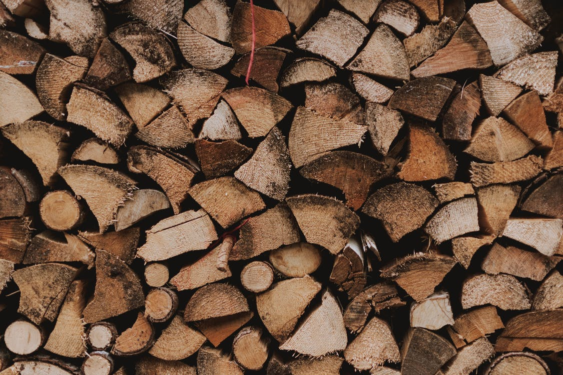 Brown and Black Firewoods