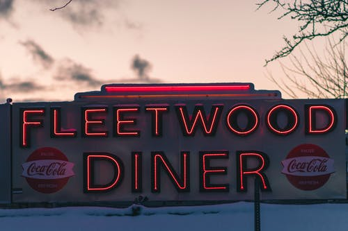 Free stock photo of diner, neon, neon sign, sunset