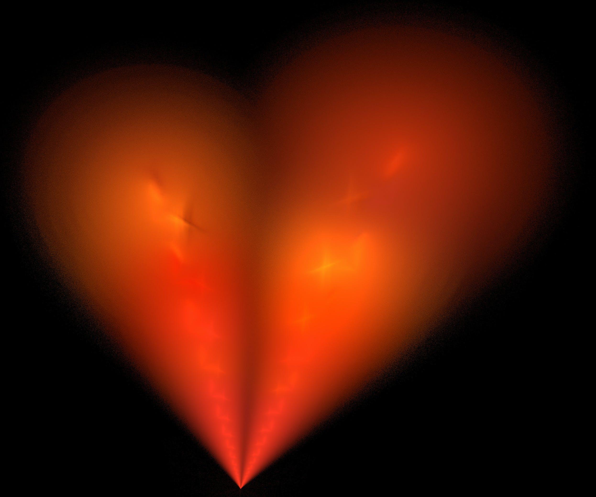 Free stock photo of red, love, heart, orange