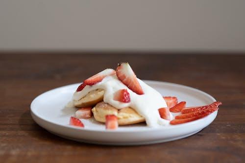 Imagine de stoc gratuită din căpșuni, tort