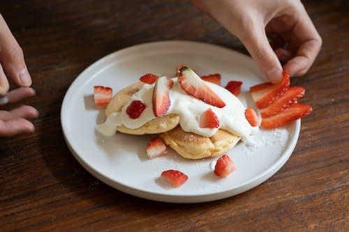 Free stock photo of cake, strawberries