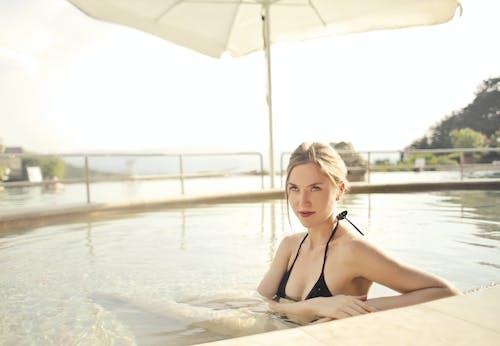 Photo of Woman Wearing Black Bikini
