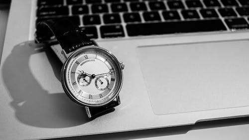 Free stock photo of Analogue watch, automatic watch, black and white, black and white watch