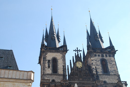 Free stock photo of church, old, czech republic, prague