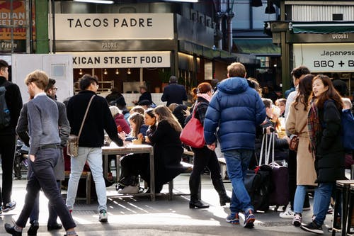 Free stock photo of london, market, street food