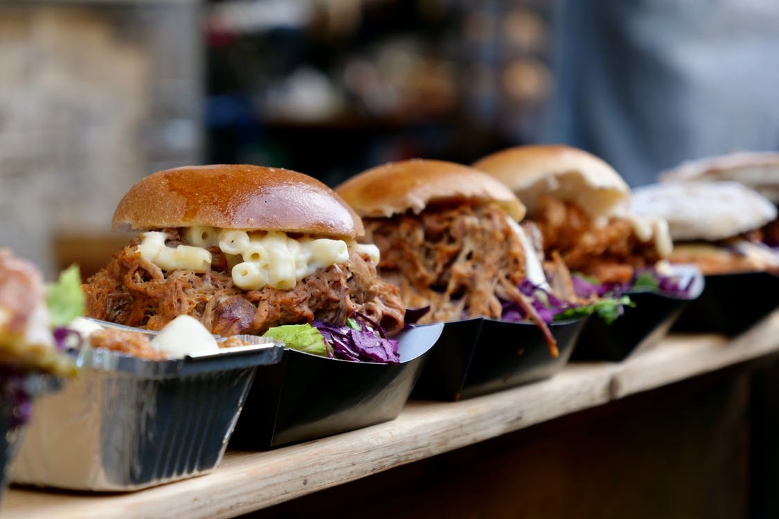 Close-Up Photo Of Burgers