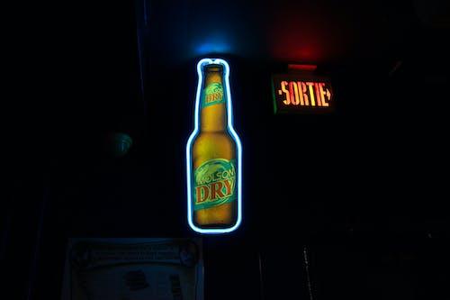 Free stock photo of beer, neon, neon art, neon light