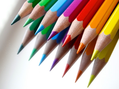 Free stock photo of art, pens, school, colorful