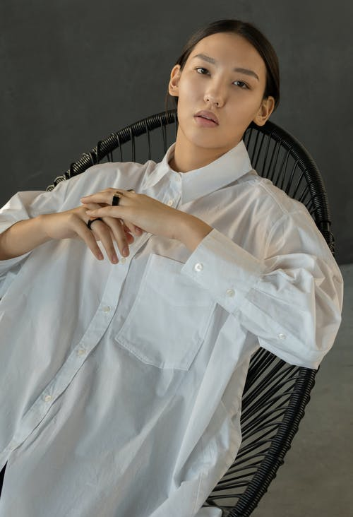 Photo Of Woman Wearing White Dress Shirt