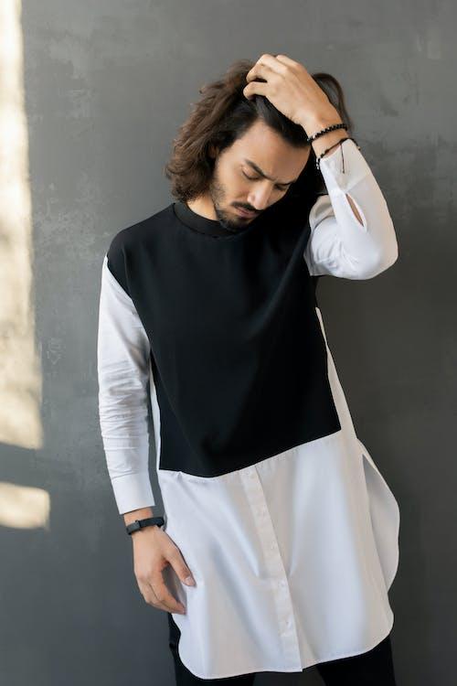 Photo Of Man Wearing White Long Sleeve Shirt