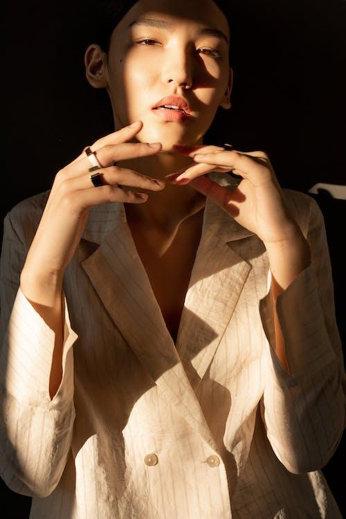 Woman in Brown Blazer