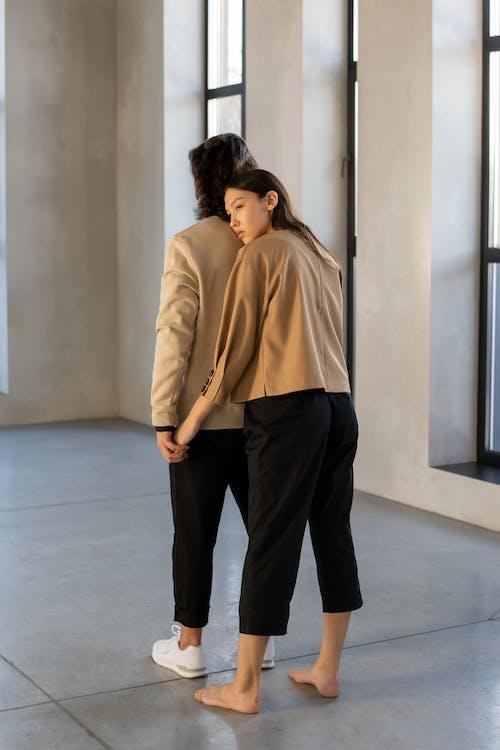 Couple Back Hug