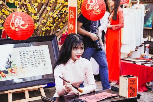 Kostnadsfri bild av ao dai, asiatisk kvinna, asiatisk tjej, het tjej