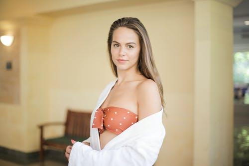 Woman Wearing Brown Swimsuit