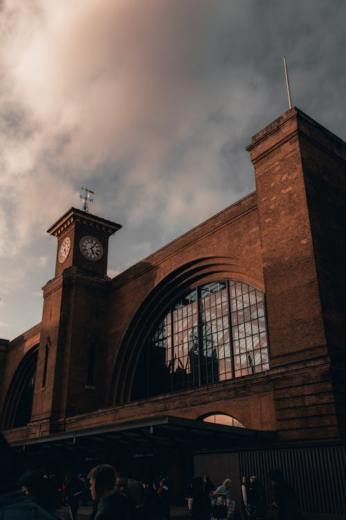 Free stock photo of clock, clock tower, kings cross, reflection