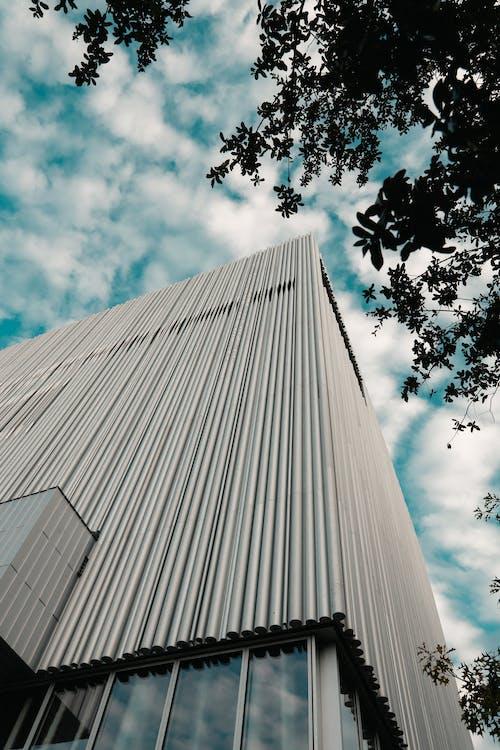 Základová fotografie zdarma na téma architektura, budova, modrá obloha, nahoru