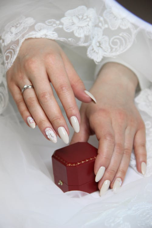 Woman Wearing Ring Holding Red Box