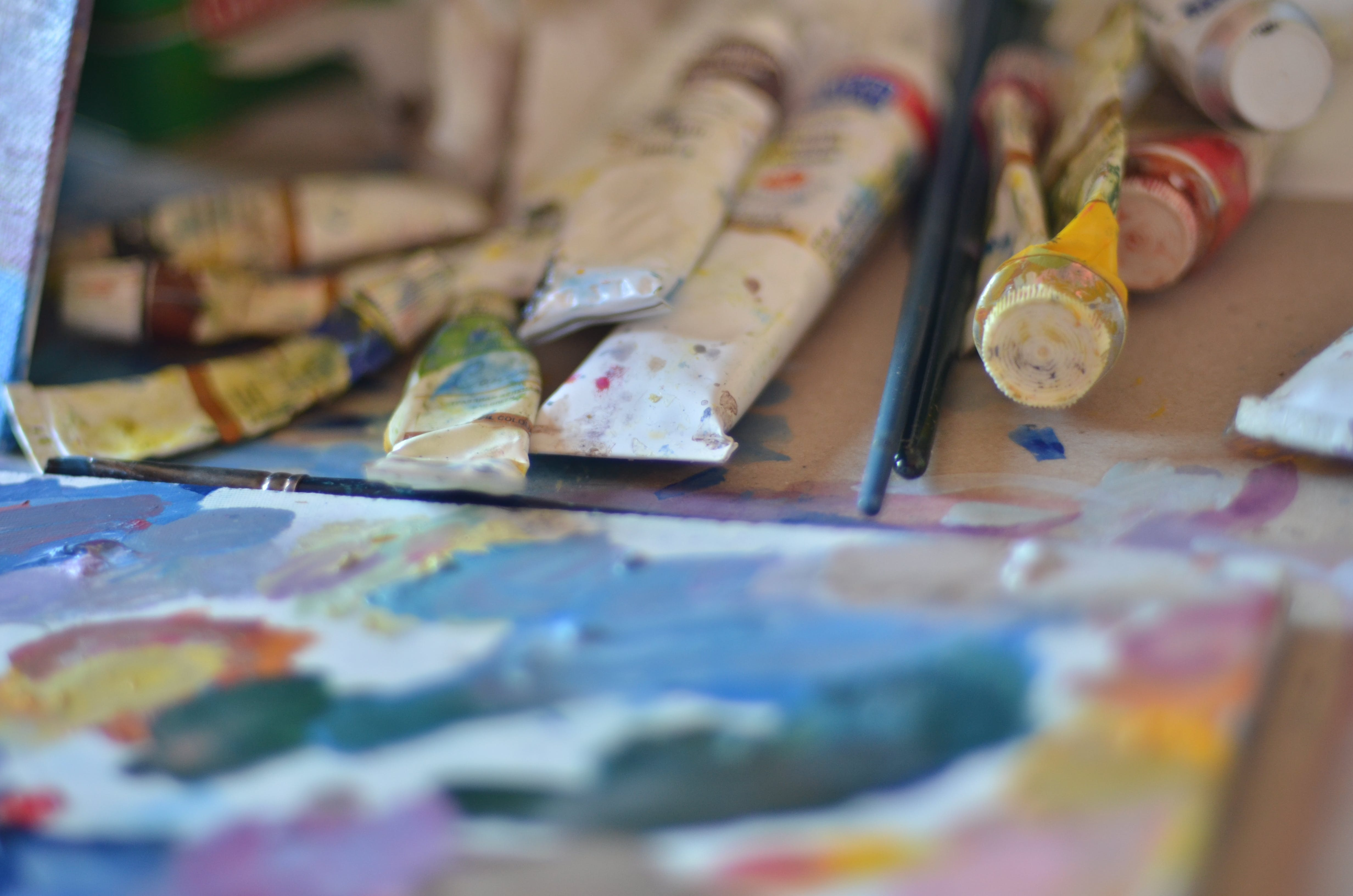 Free stock photo of art, background, brushes, oil paint