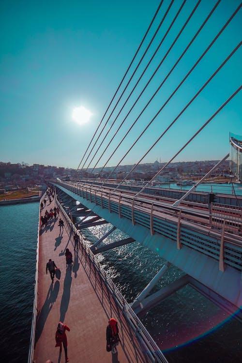 Free stock photo of bridge, human, Istanbul
