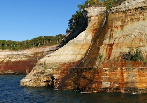 Free stock photo of cliff, rocks, stream